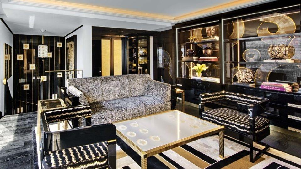 LALIQUE SUITE'S LIVING ROOM by PATRICK HELLMANN at PRINCE DE GALLES HOTEL, PARIS