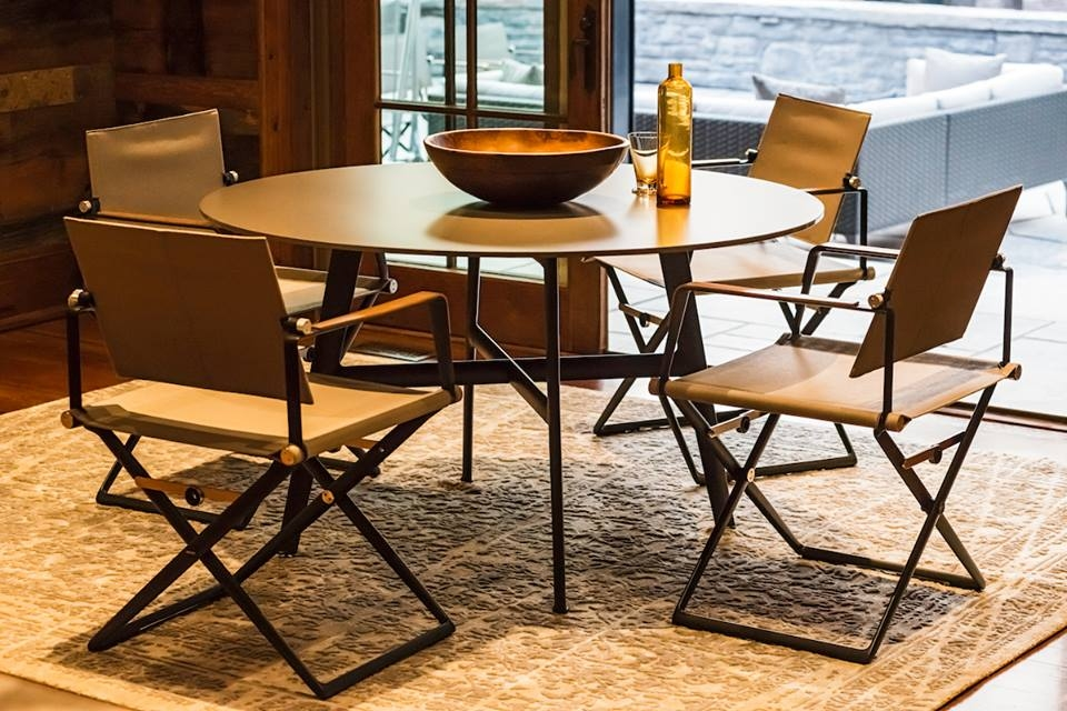 SEAX collection - dining table and armchairs - designer JEAN-MARIE MASSAUD