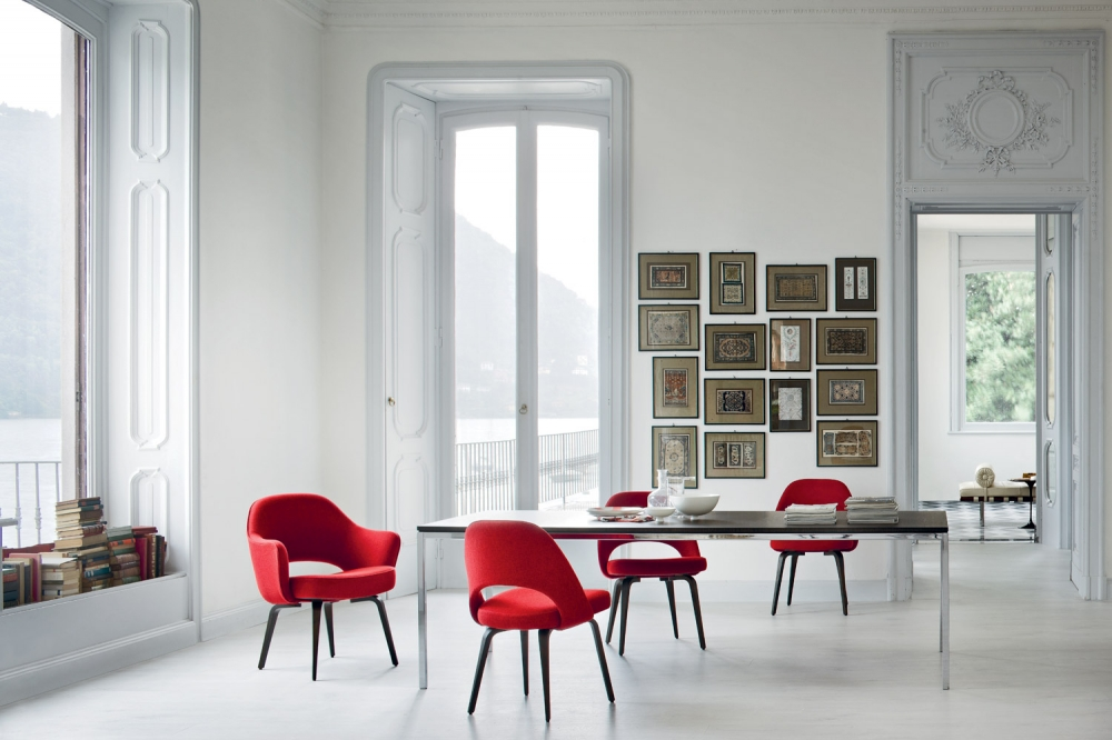 FLORENCE KNOLL DINING TABLES BY FLORENCE KNOLL 1961