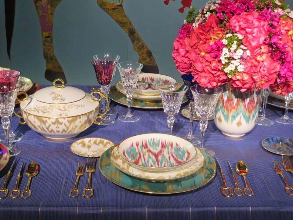 Tableware VOYAGE EN IKAT, gold-plated flatware GRAND ATTELAGE