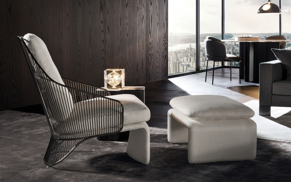 COLETTE BERGERE and FOOTSTOOL by RODOLFO DORDONI