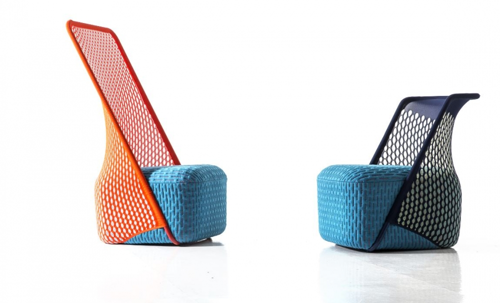 CRADLE ARMCHAIRS BY BENJAMIN HUBERT, 2015