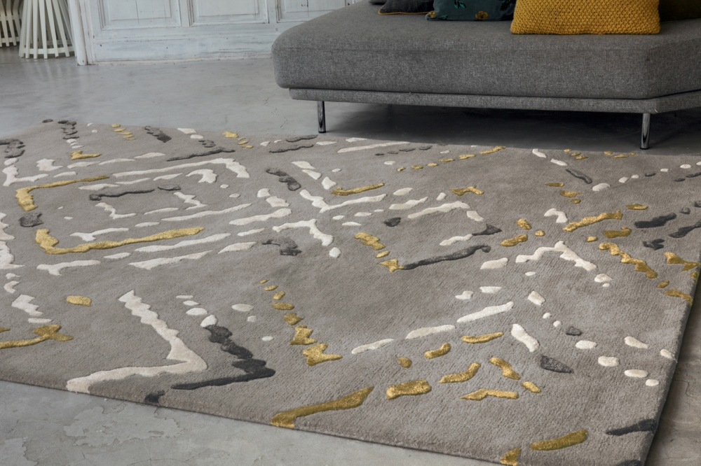 WOOL AND VISCOSE RUG ALY