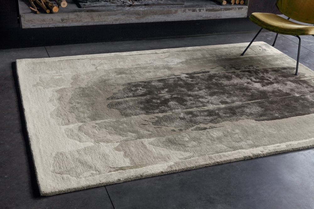 WOOL AND VISCOSE RUG ICE