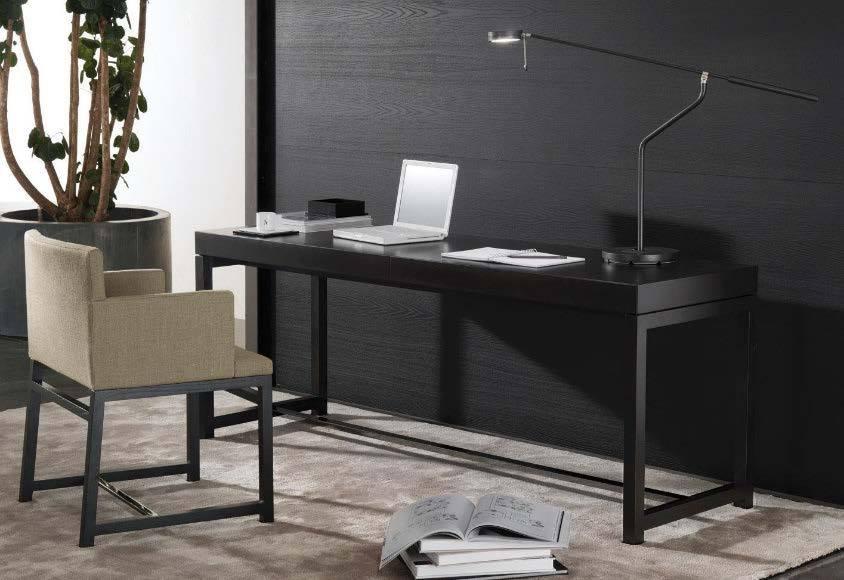 Writing desk FULTON, chair FLYNT - designer RODOLFO DORDONI
