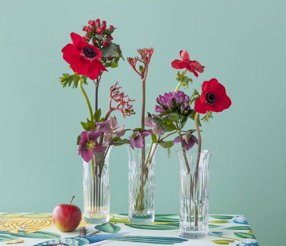 FLORA vase set. The FLORA vases set features three distinctive styles for a spectacular trio arrangement, or standalone floral designs. Price €300