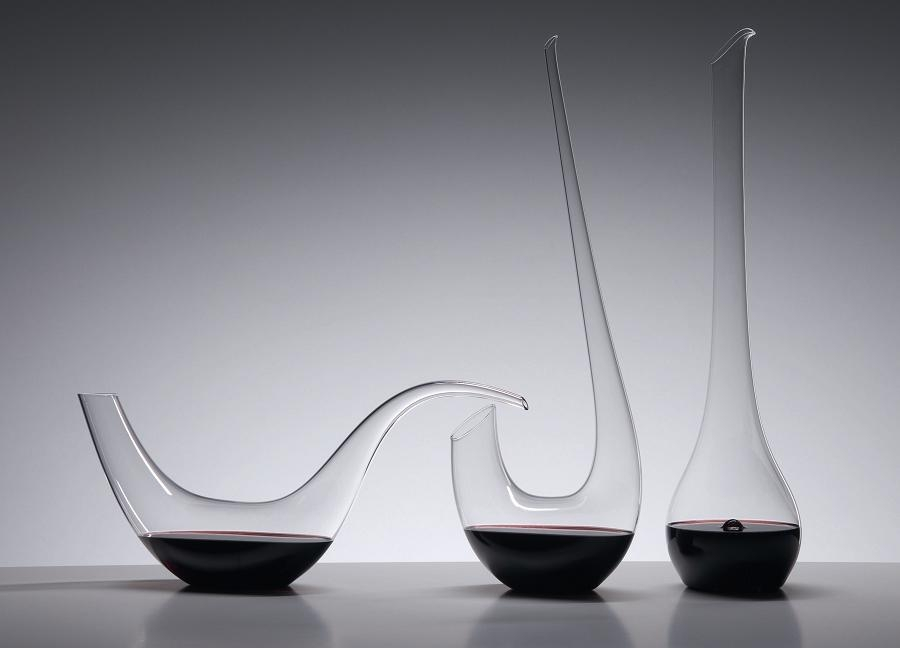 CRYSTAL DECANTERS: PALOMA, SWAN AND FLAMINGO