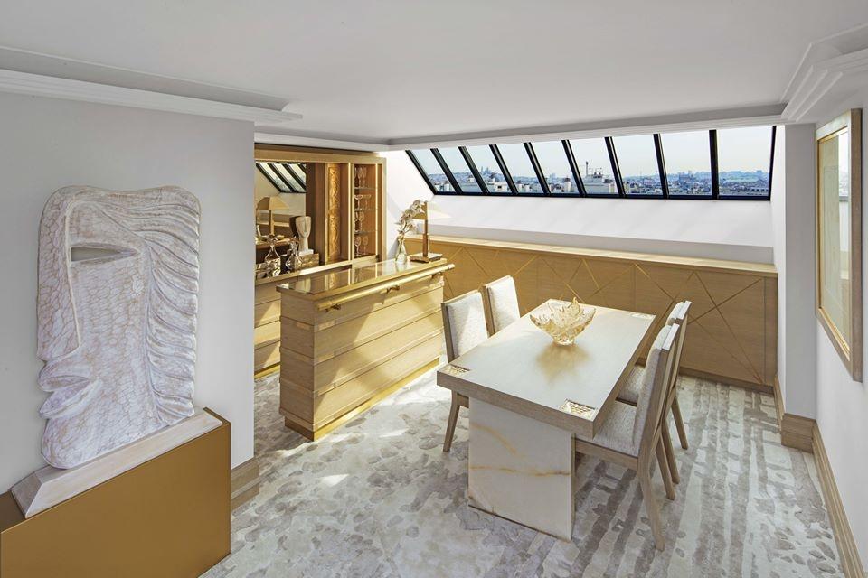 LALIQUE SUITE'S BAR AREA  by PATRICK HELLMANN at HOTEL PRINCE DE GALLES, PARIS