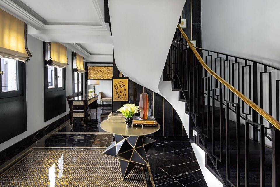 LALIQUE SUITE'S OFFICE AREA  by PATRICK HELLMANN at PRINCE DE GALLES HOTEL, PARIS