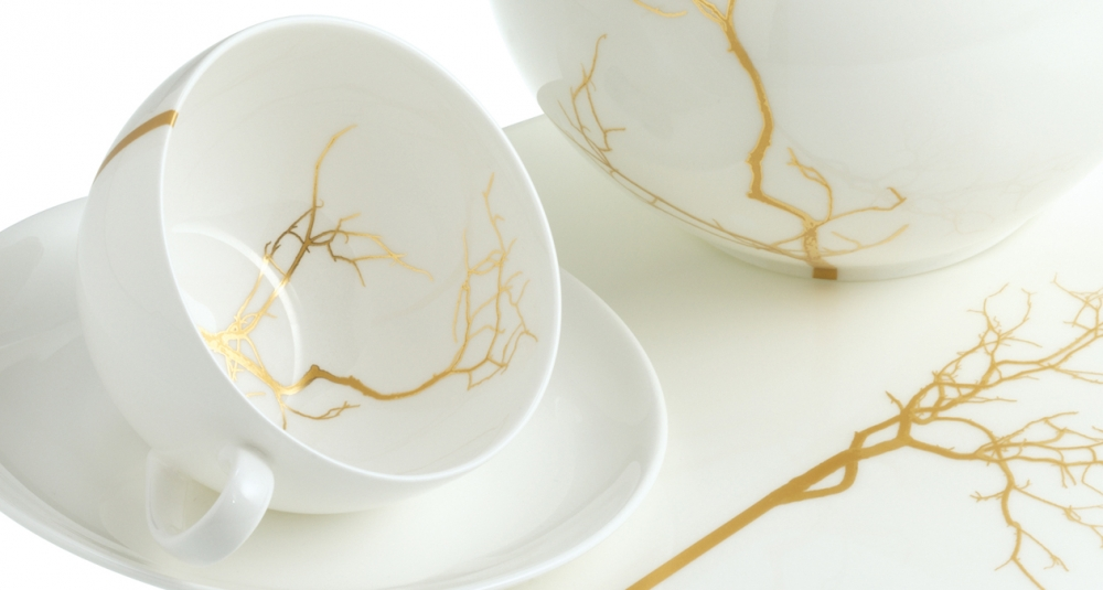 FINE BONE CHINA TABLEWARE GOLDEN FOREST - MADE IN GERMANY