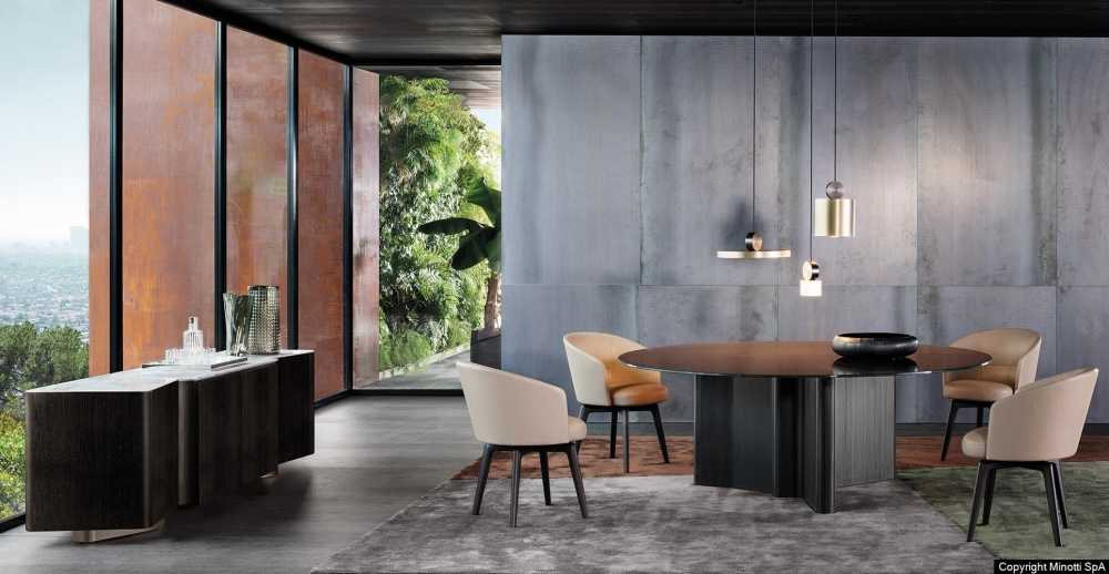 AMELIE DINING LITTLE SWIVEL ARMCHAIR and LITTLE FIXED ARMCHAIR by RODOLFO DORDONI