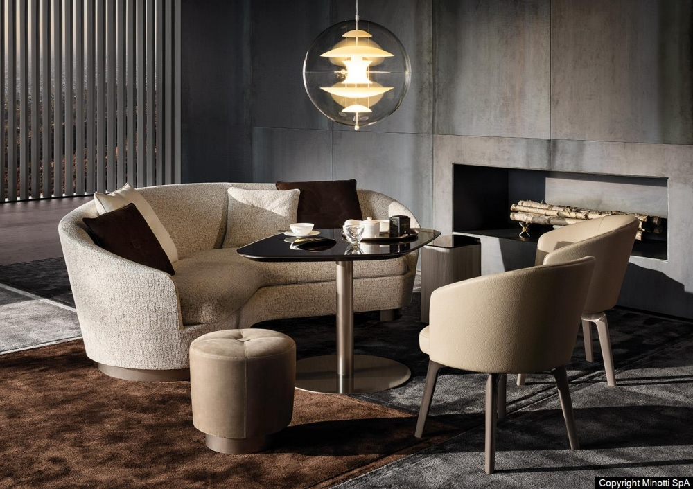 AMELIE LOUNGE LITTLE SWIVEL ARMCHAIR and LITTLE FIXED ARMCHAIR by RODOLFO DORDONI