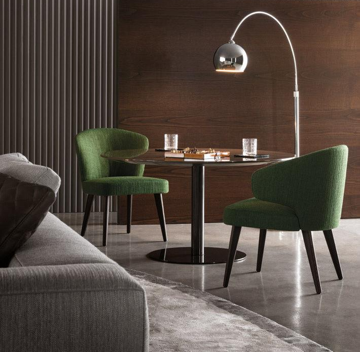 ASTON LOUNGE CHAIR and LITTLE ARMCHAIR by RODOLFO DORDONI