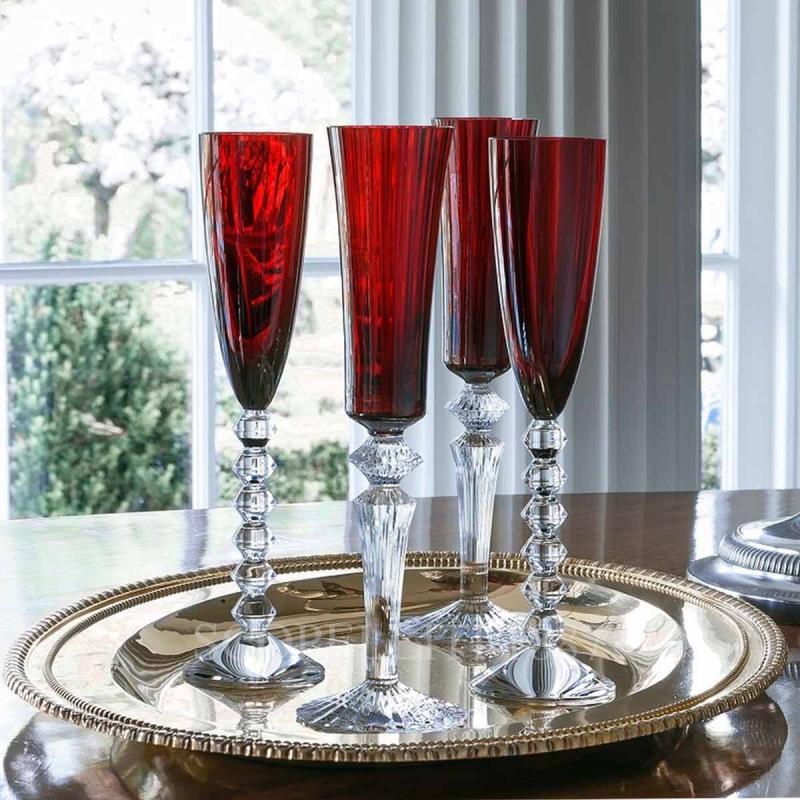 Crystal champagne glasses MILLE NUITS FLUTISSIMO, designed by MATHIAS and VEGA FLUTISSIMO