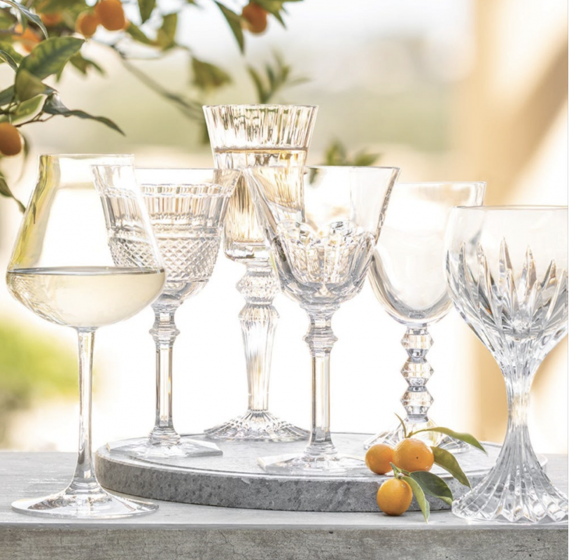 WINE THERAPY, SET OF 6. The perfect set for entertaining, the Baccarat WINE THERAPY SET of six wine glasses features a glass for each personality. The set includes one glass each from Baccarat's iconic designs: HARCOURT EVE, DIAMANT EVE, CHÂTEAU BACCARAT, MASSENA, VEGA and MILLE NUITS.  Each glass has its own stunning pattern and shape, designed to bring out the best in wine flavors and texture. The WINE THERAPY set makes a wonderful wedding gift or a great addition to your glassware collection.