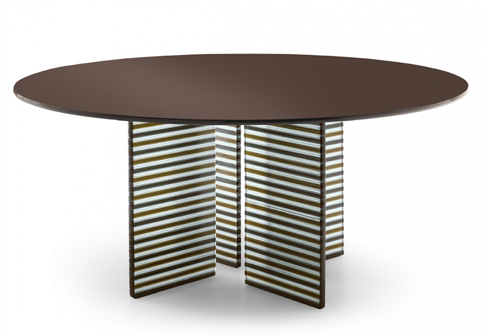 BIG WAVE TABLE WITH DV GLASS BASE  BY. LUDOVICA + ROBERTO PALOMBA