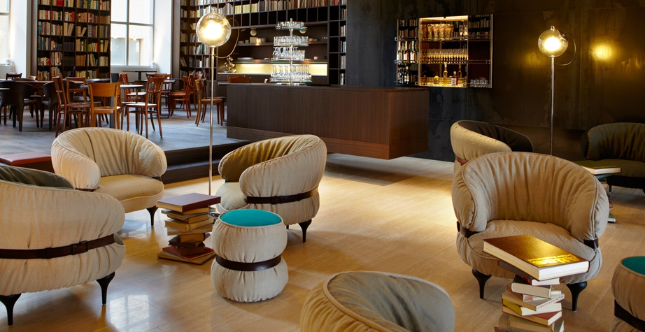 CHUBBY CHIC ARMCHAIR AND POUF BY DIESEL CREATIVE TEAM - BOUTIQUE HOTEL ZURICH, SWITZERLAND, 2015