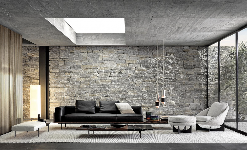 BRASILIA sofa designed by MARCIO KOGAN / studio mk27, has an ultra-precise, contemporary, minimal style, rooted in Brazilian modernism.