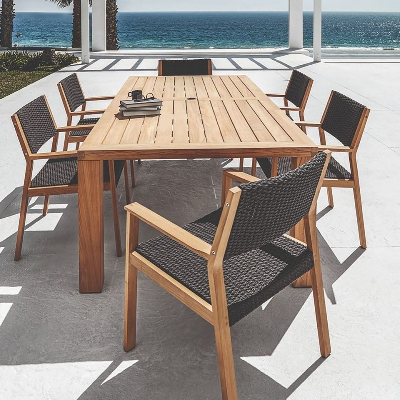 SQUARE dining table and MAZE dining chairs by POVL ESKILDSEN