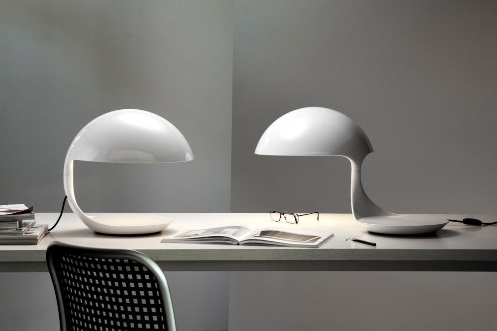 Swivel table lamp SERPENTE - designer ELIO MARTINELLI
