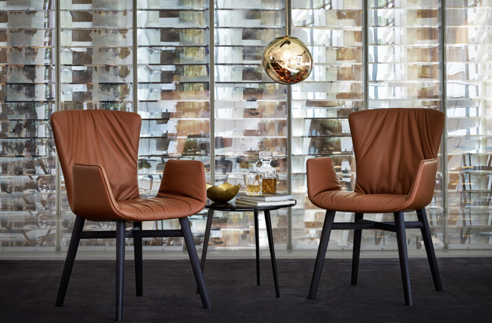 DEXTER ARMCHAIR WITH DRAPERY 2056-I BY GINO CAROLLO 2015