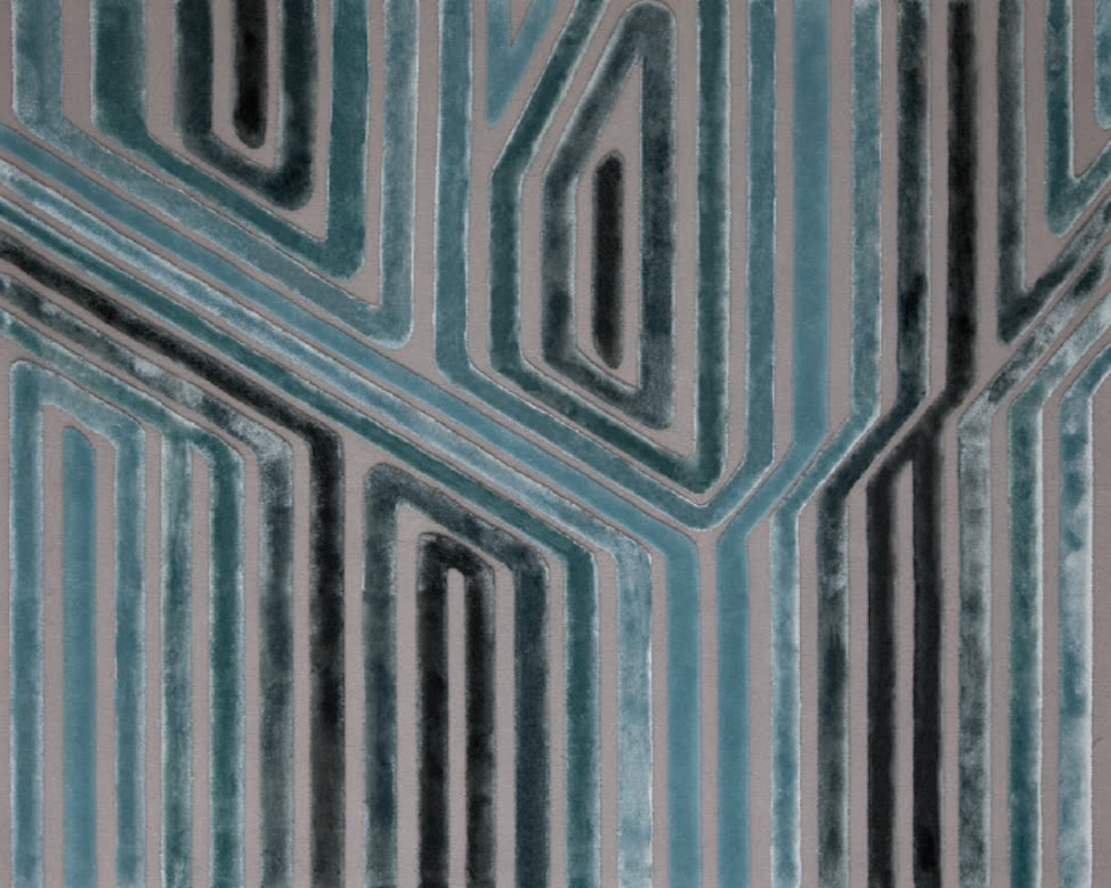 DIVERSION I RUG OF 56% WOOL AND 44 % SILK BY EDWARD FIELDS STUDIO