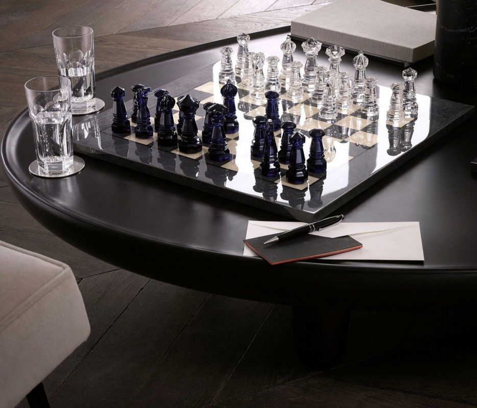CHESS GAME.The chessboard is made in rare and exotic woods in colours. Price € 12 000