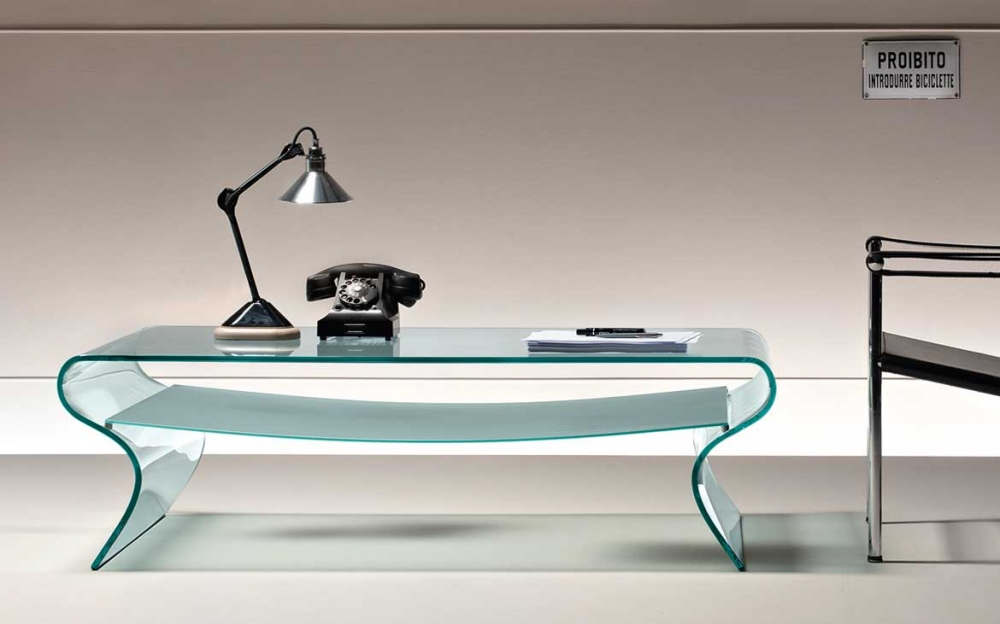 CHARLOTTE COFFEE TABLE IN CURVED GLASS BY PROSPERO RASULO