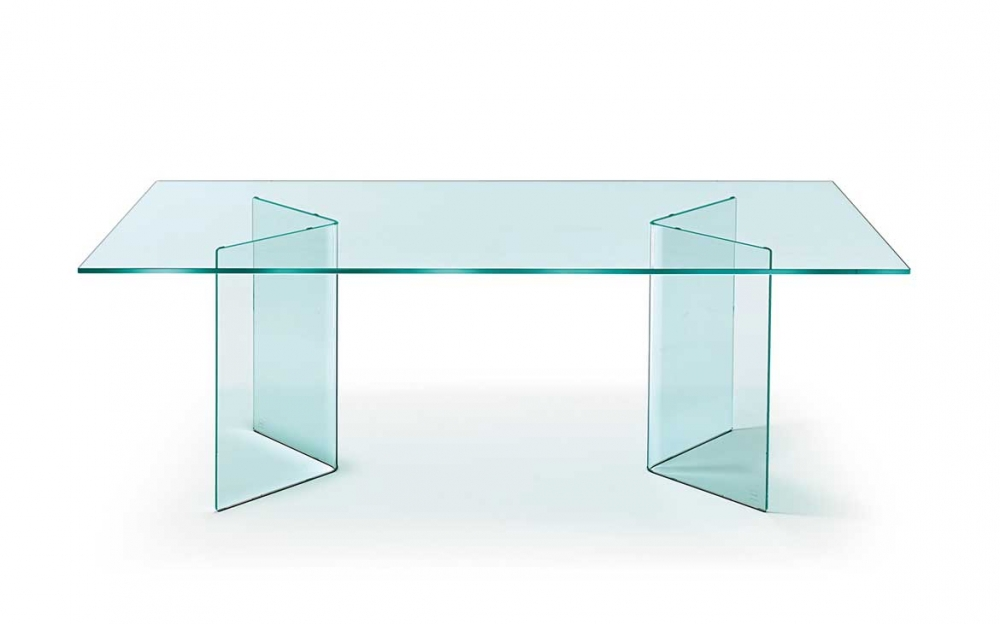 CORNER TABLE IN CURVED GLASS BY CRS FIAM