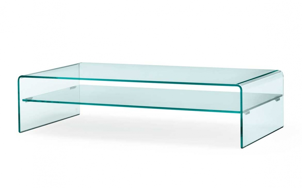 RIALTO PIANO COFFEE TABLE IN CURVED GLASS BY CRS FIAM