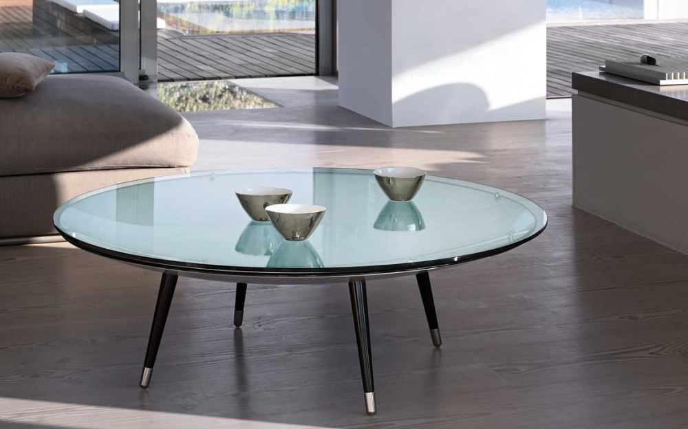 ROY COFFEE TABLE IN CURVED GLASS BY DORIANA E MASSIMILIANO FUKSAS