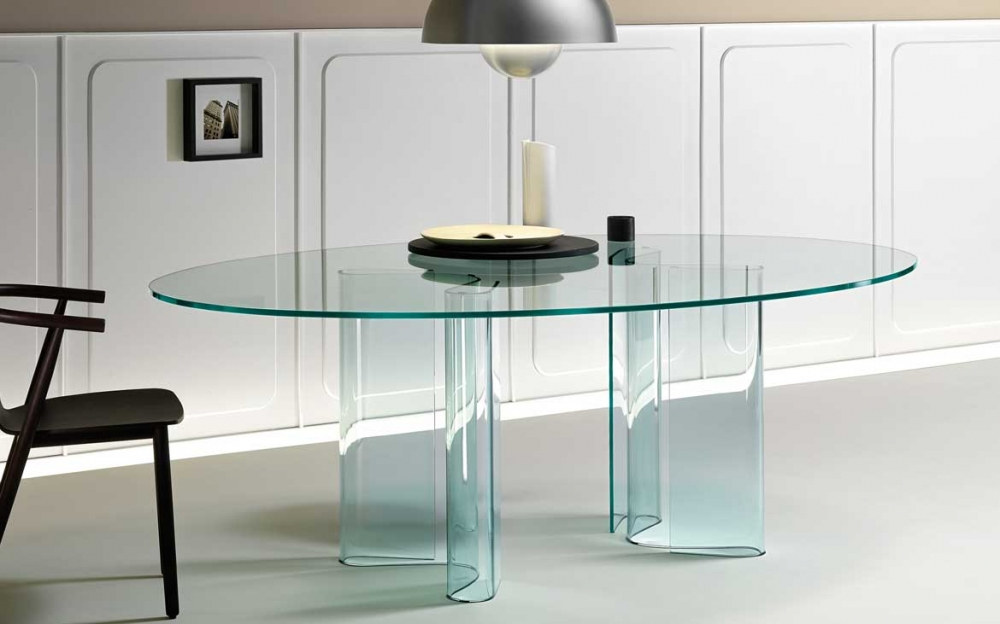SAHARA TABLE IN CURVED GLASS BY BARTOLI DESIGN