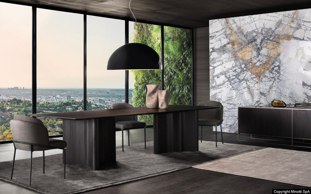 FIL NOIR DINING CHAIR by CHRISTOPHE DELCOURT