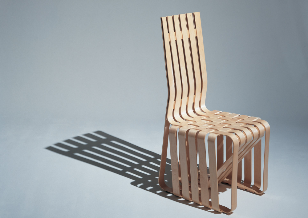 HIGH STICKING™ CHAIR BY FRANK GEHRY 1990