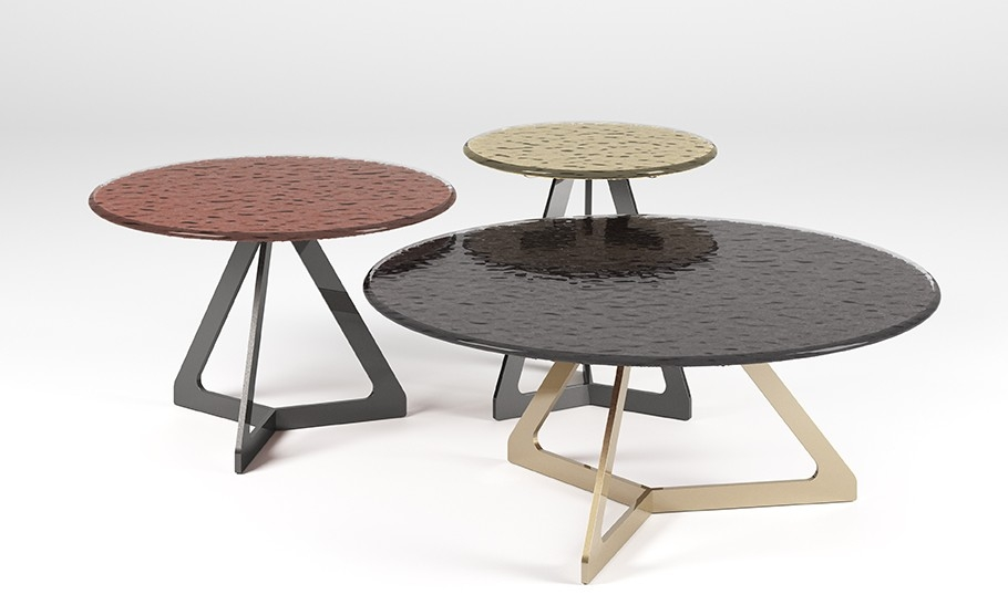 LAKES TABLE IN FUSED GLASS BY STUDIO KLASS