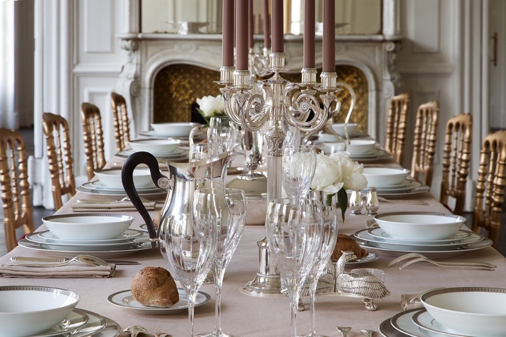 The festive table by Christofle.