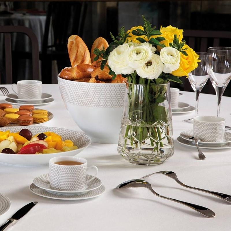 Porcelain tableware and crystal round vase MADISON 6
