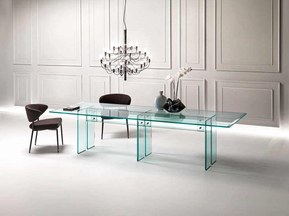 LLT TABLE IN GLASS BY DANTE O.BENINI E LUCA GONZO