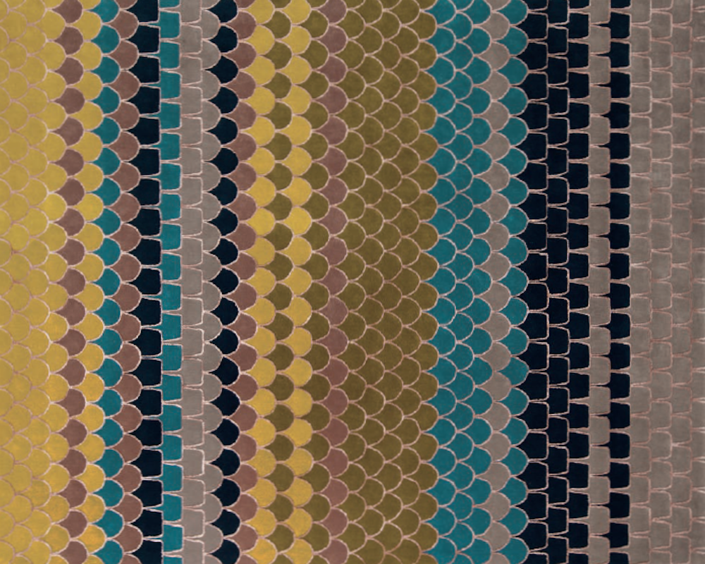 LONESOME ROAD I RUG OF 90% WOOL AND 10 % DULL SILK BY EDWARD FIELDS STUDIO