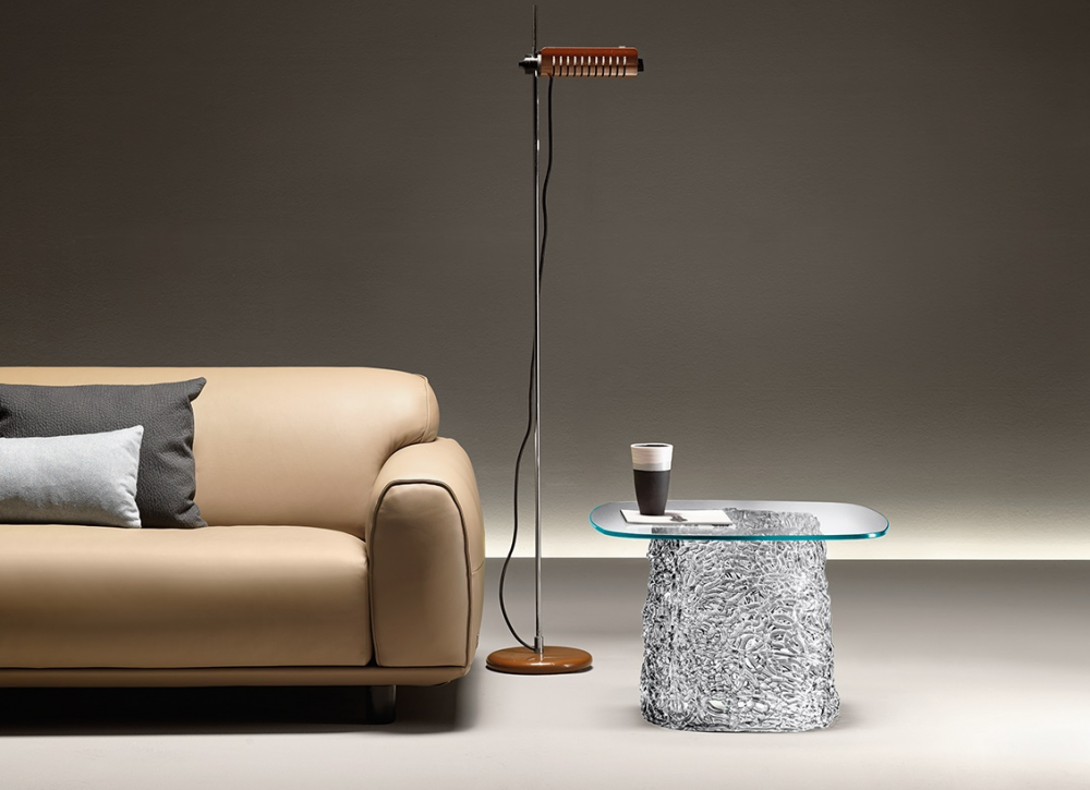 MACRAMÉ COFFEE TABLE IN SPUN GLASS BY LUCIDIPEVERE