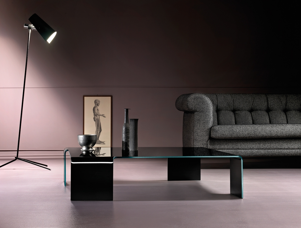 NEUTRA COFFEE TABLE IN CURVED GLASS BY RODOLFO DORDONI