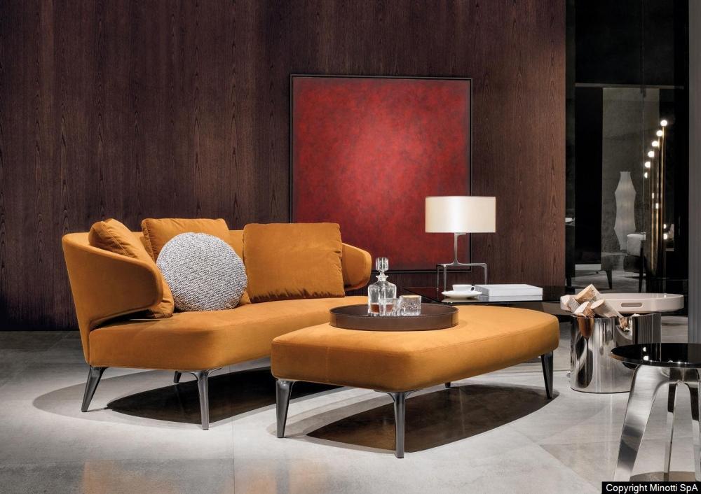 ASTON sofa and bench by RODOLFO DORDONI