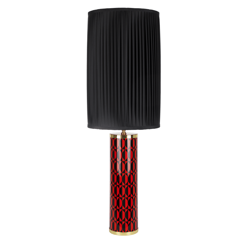 CYLINDRICAL LAMP BASE VISO RED,BLACK