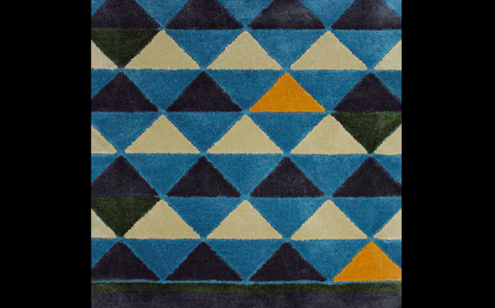PEAKS I RUG OF 92% DULL SILK AND 8% WOOL BY EDWARD FIELDS