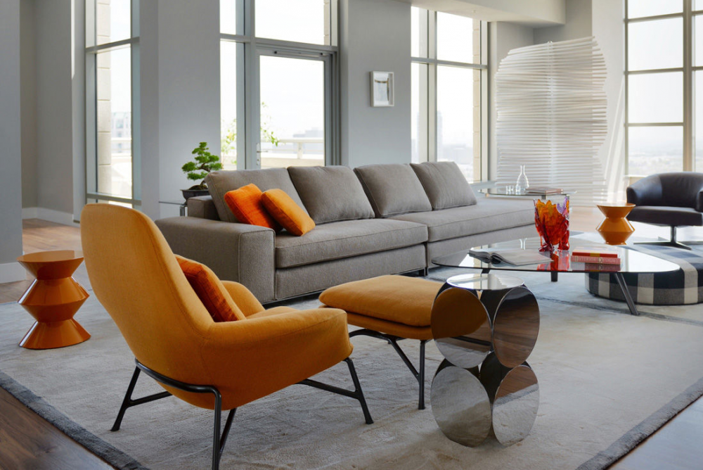 PRINCE ARMCHAIR and FOOTSTOOL by RODOLFO DORDONI
