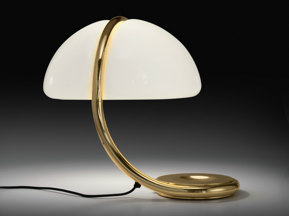 SWIVEL TABLE LAMP SERPENTE ORO - DESIGNER ELIO MARTINELLI