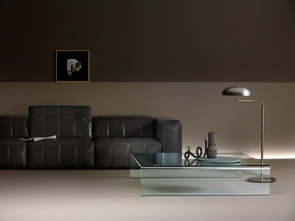 RIALTO COFFEE TABLE IN CURVED GLASS BY CRS FIAM