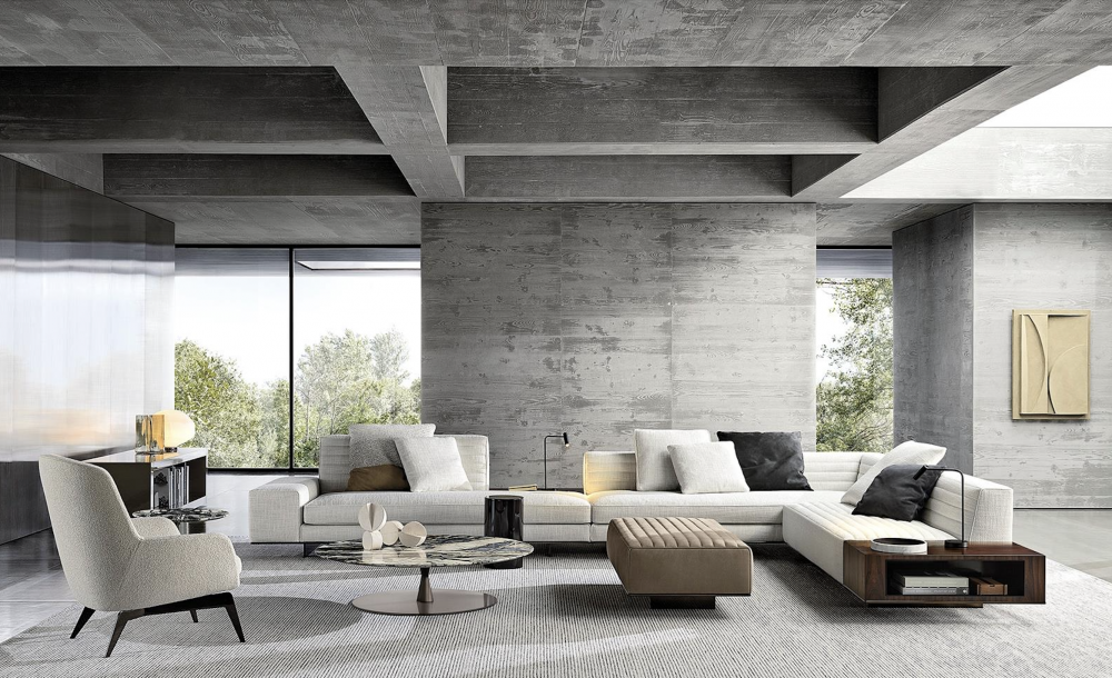 ROGER sofa by RODOLFO DORDONIThe Roger seating system is the result of an open design, created to be composed with imagination and personalised with style.