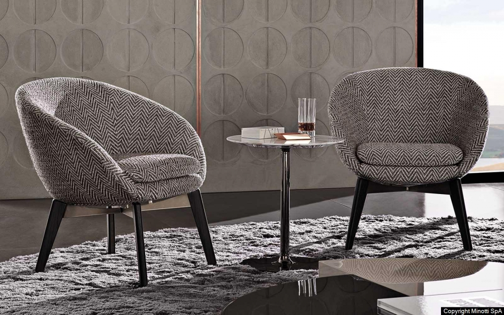 RUSSELL LOUNGE LITTLE FIXED ARMCHAIR by RODOLFO DORDONI