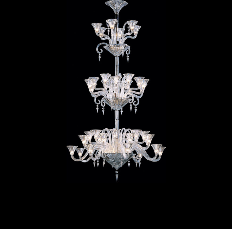 MILLE NUITS chandelier The MILLE NUITS collection, designed for Baccarat by MATHIAS, is inspired by the poetic and faraway tales of The Thousand and One Arabian Nights. The Mille Nuits all-crystal chandelier is available with 6, 8, 12, 18, 24, 36 or 42 lights for various degrees of luminosity, and each model available with candleholders.